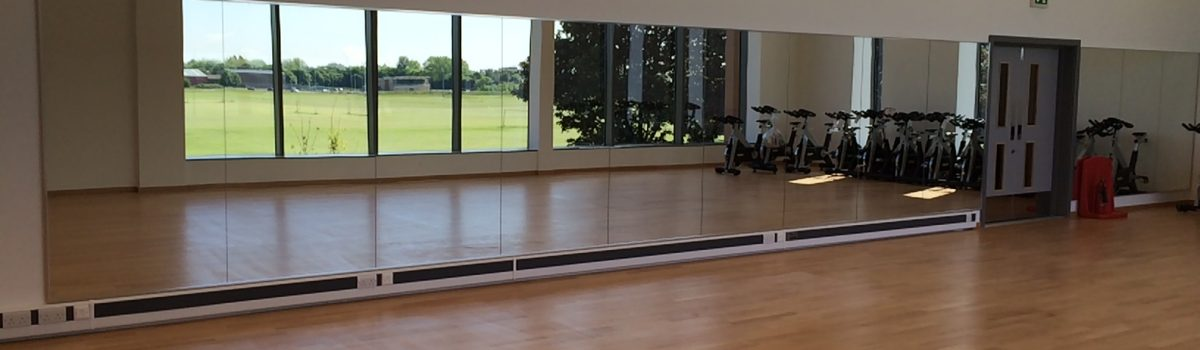 Large Gym Mirrors for Leisure Centre