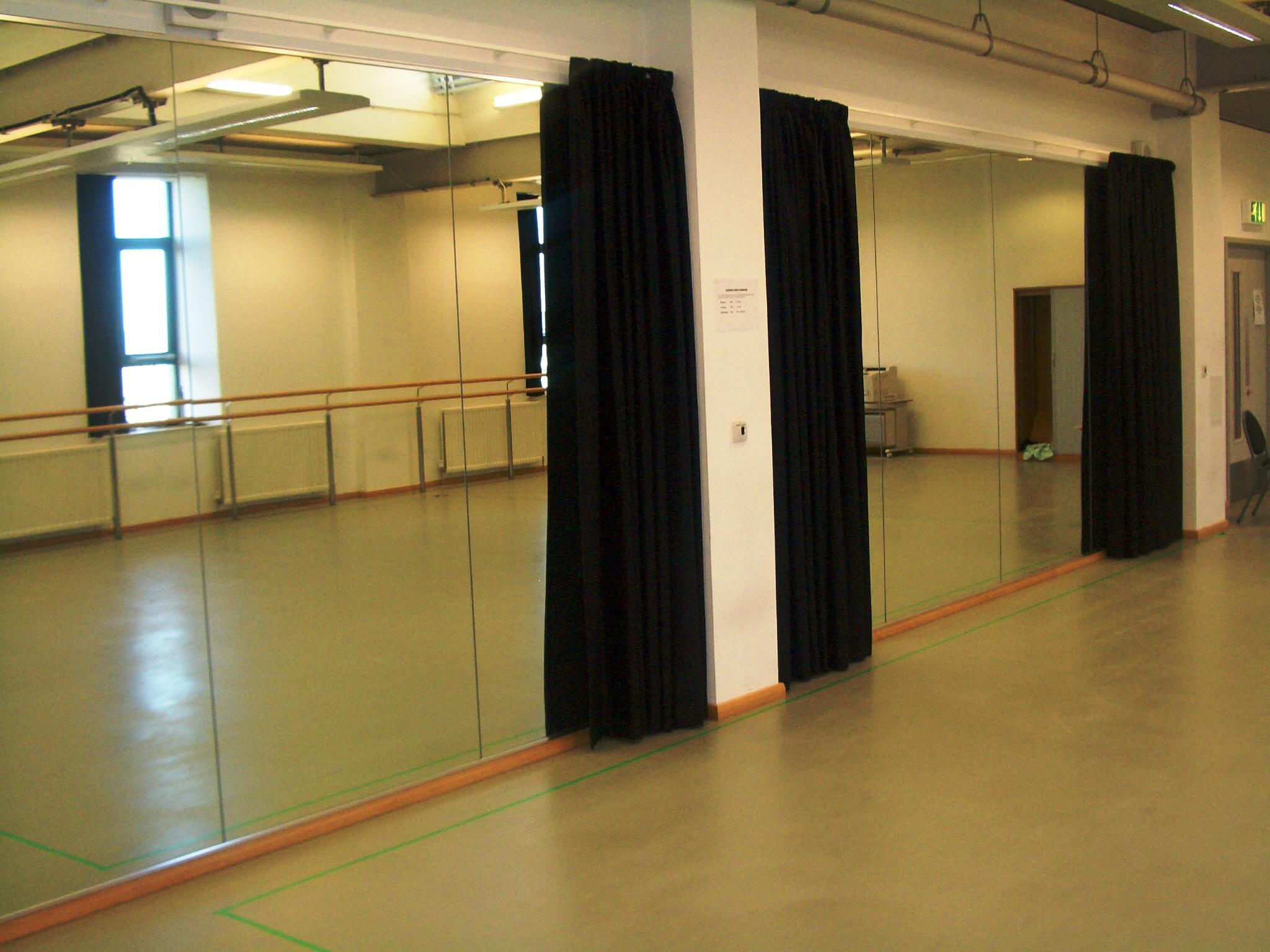 Studio Curtains & Mirror Protection