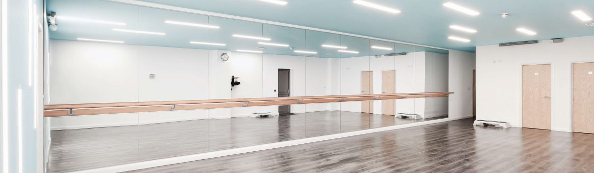 Fitness Studio Mirrors & Barres