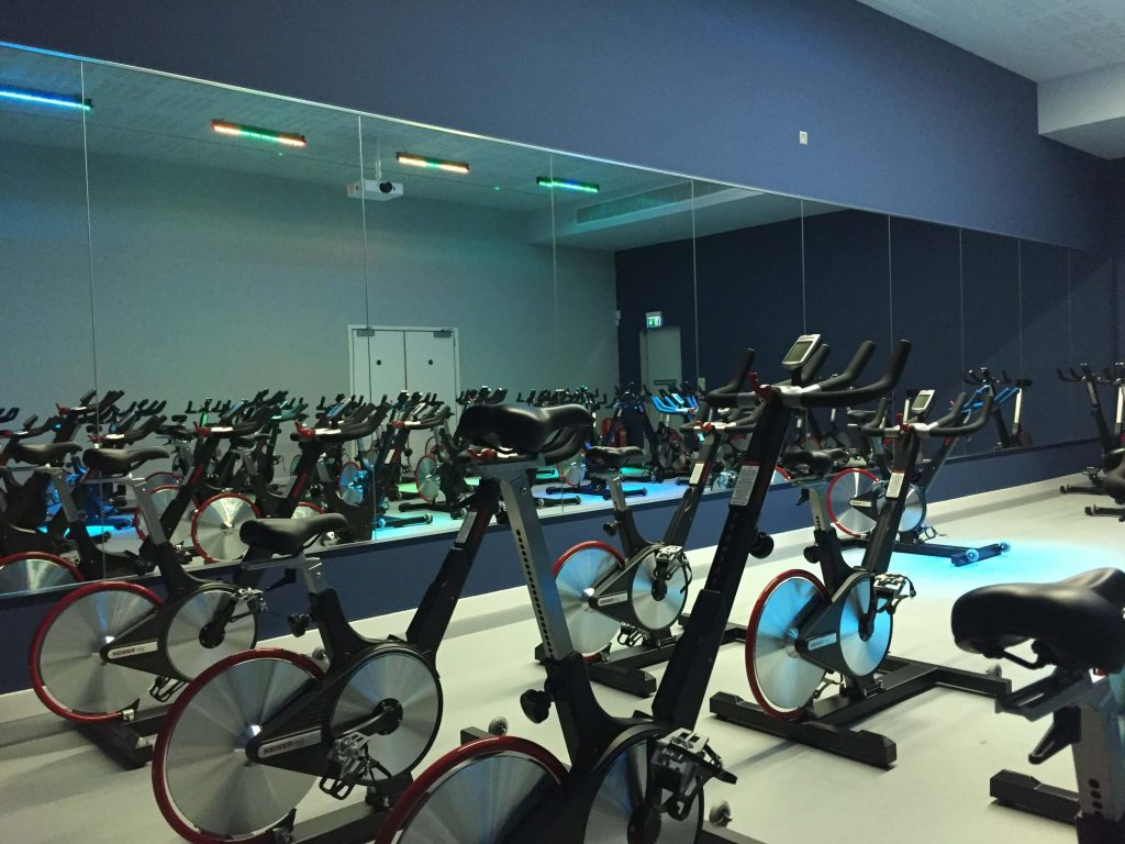 Spin Studio Gym Mirrors