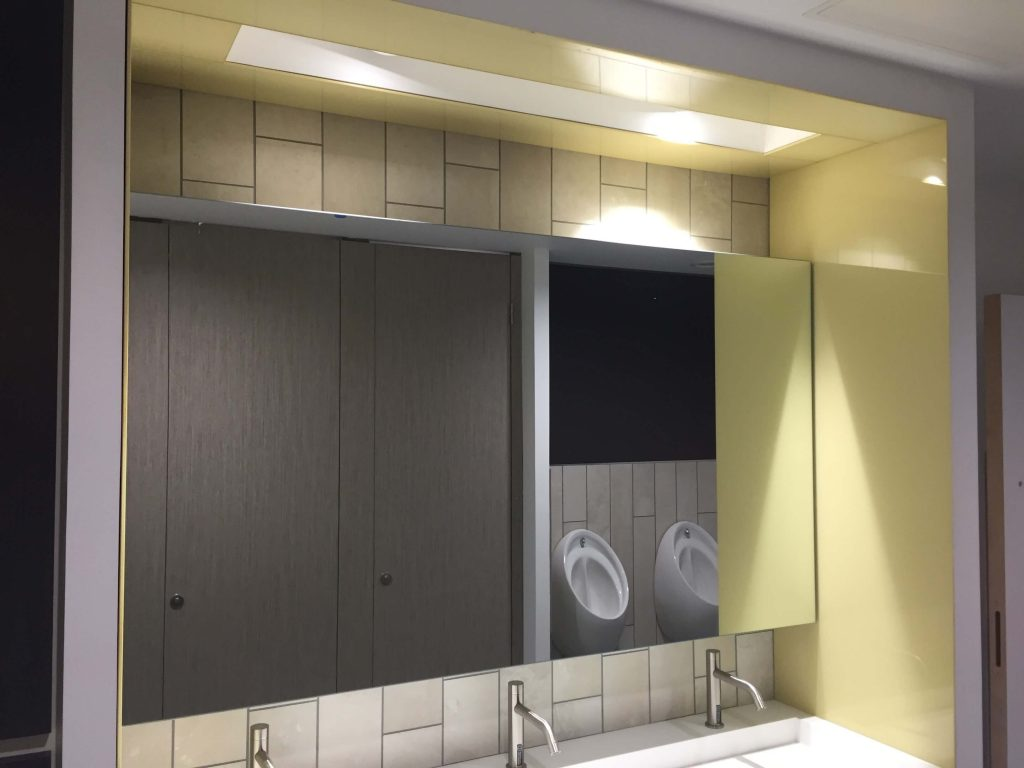 Vanity Mirrors with Back Painted Glass