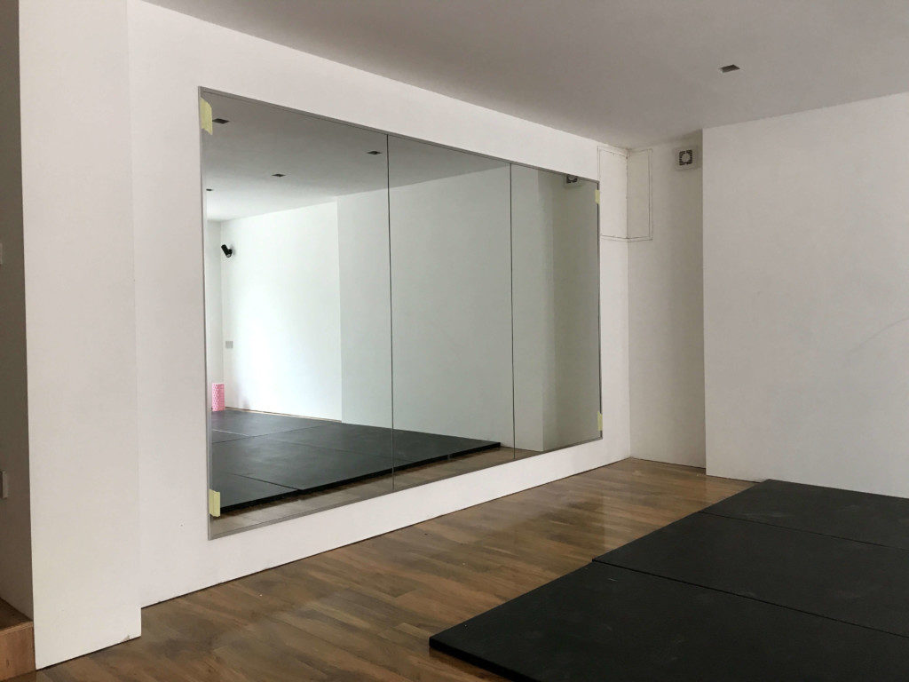 Home gym mirrors manchester glass installations