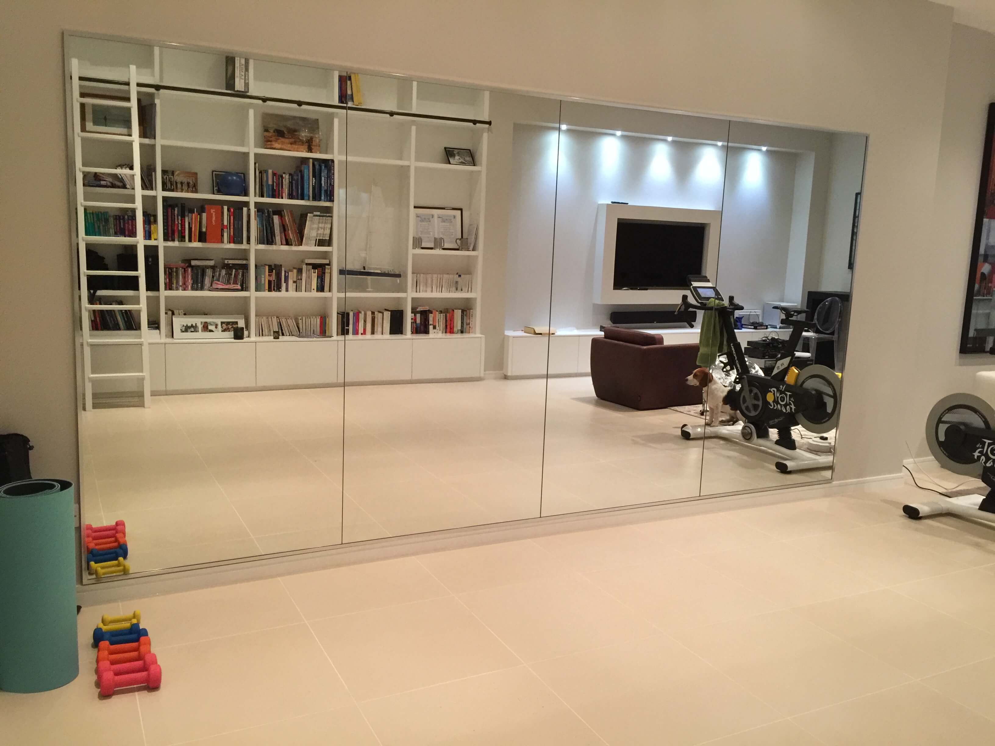 Home gym mirrors london glass installations