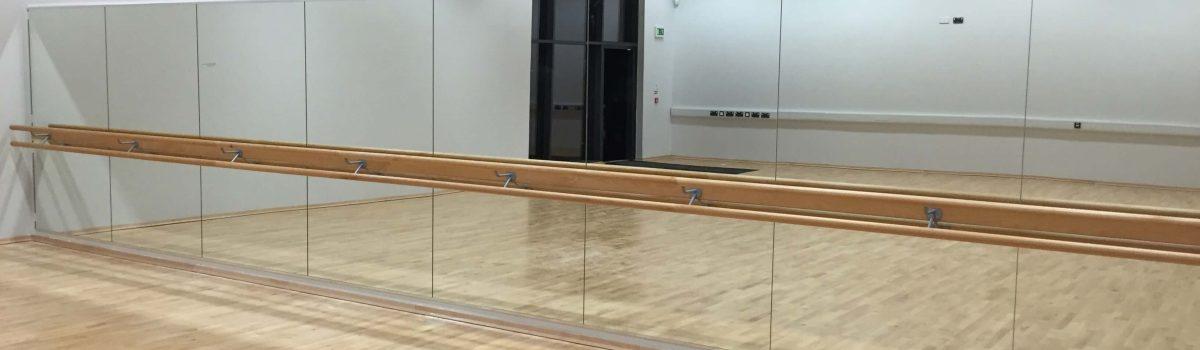 Dance Mirror & Double Tier Ballet Barre